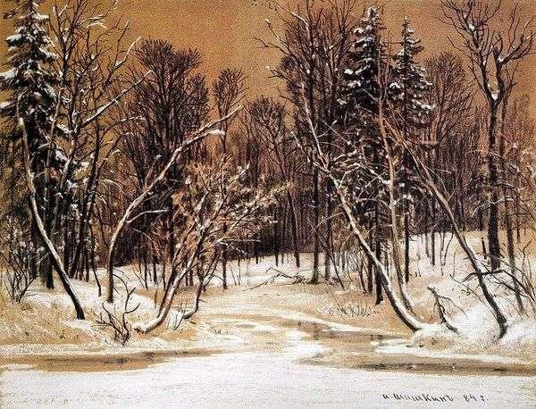 Лес зимой   Иван Шишкин