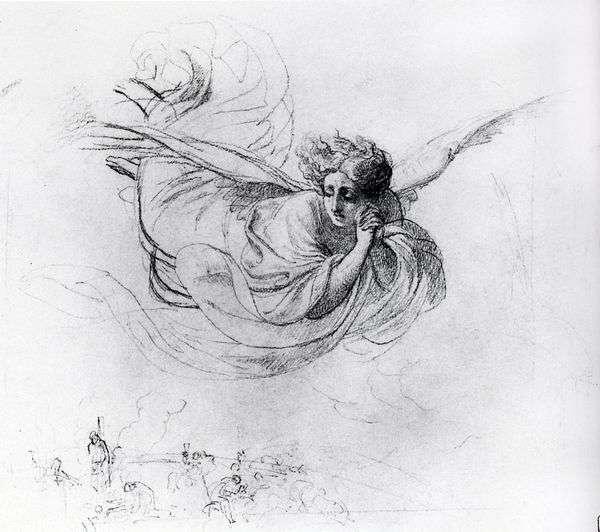 Летящий ангел, оплакивающий жертвы инквизиции   Карл Брюллов