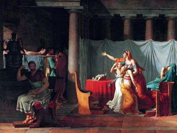 Ликторы приносят Бруту тела его казненных сыновей   Жак Луи Давид