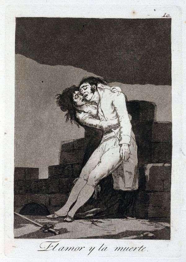 Любовь и смерть   Франсиско де Гойя