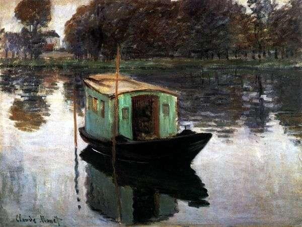 Лодка студия   Клод Моне