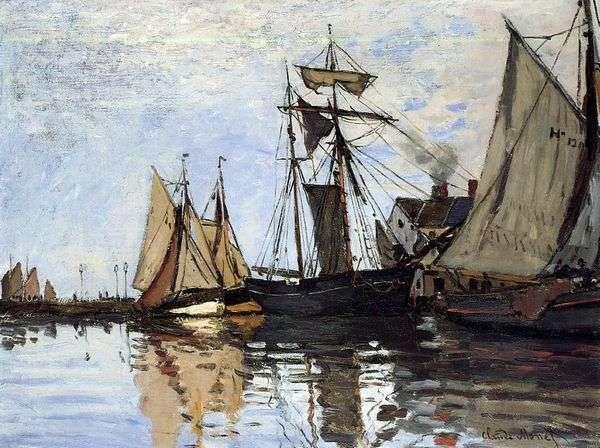 Лодки в Порту Онфлер   Клод Моне