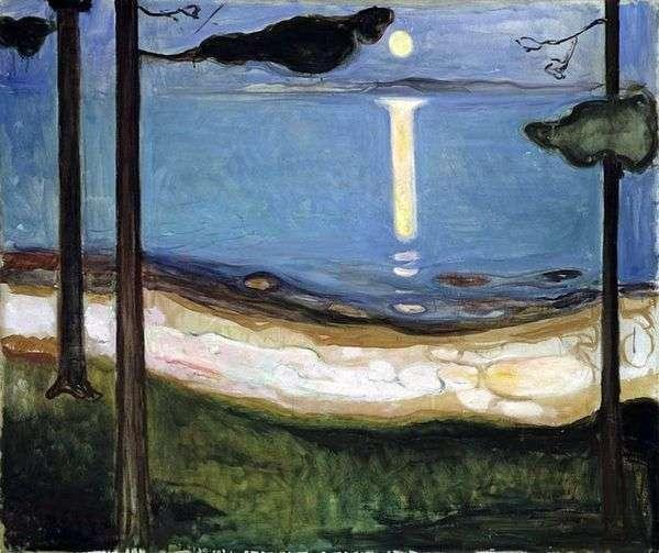 Лунный свет   Эдвард Мунк