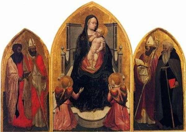 Мадонна с ангелами и святыми (триптих Сан Джовенале)   Мазаччо