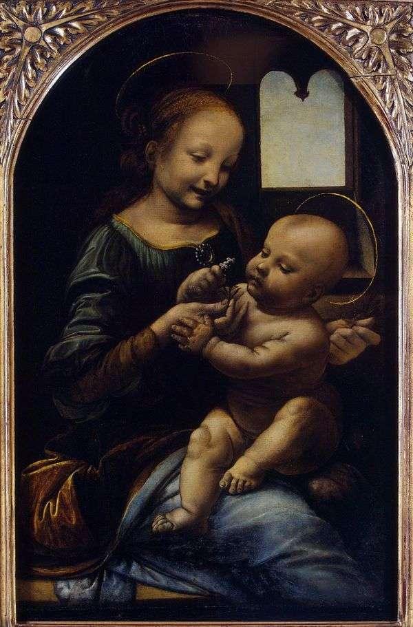 Мадонна с цветком (Мадонна Бенуа)   Леонардо да Винчи