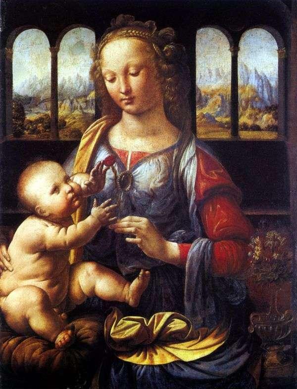 Мадонна с гвоздикой   Леонардо Да Винчи