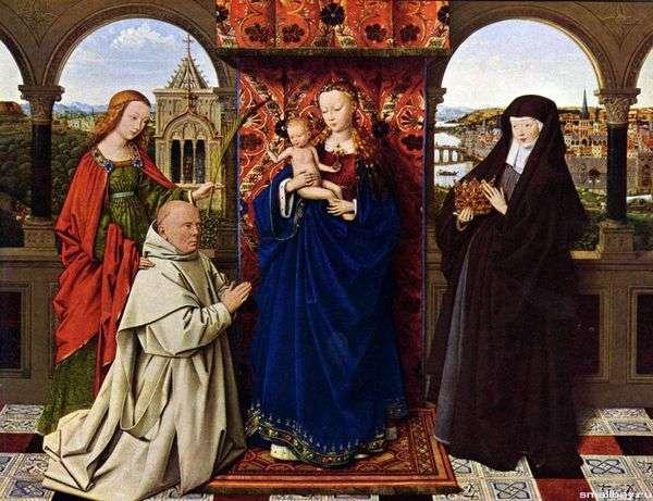Мадонна с картезианским монахом   Ян ван Эйк