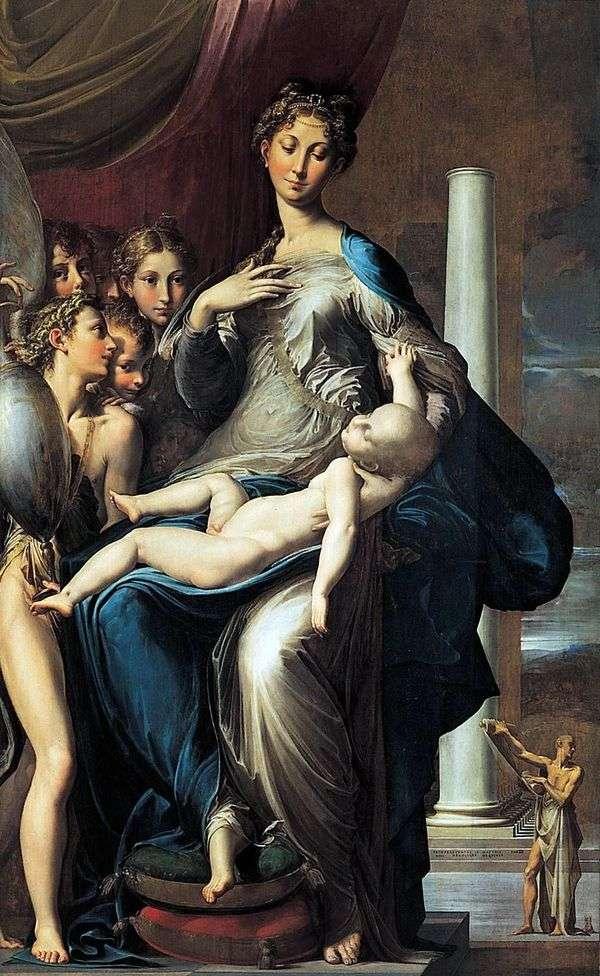 Мадонна с Младенцем, ангелами и св. Иеронимом   Франческо Пармиджанино