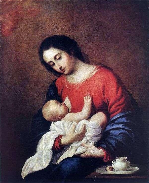 Мадонна с младенцем   Франсиско де Сурбаран
