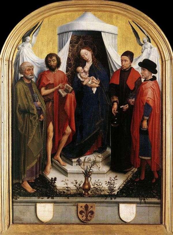 Мадонна с Младенцем и четырьмя святыми   Рогир ван дер Вейден