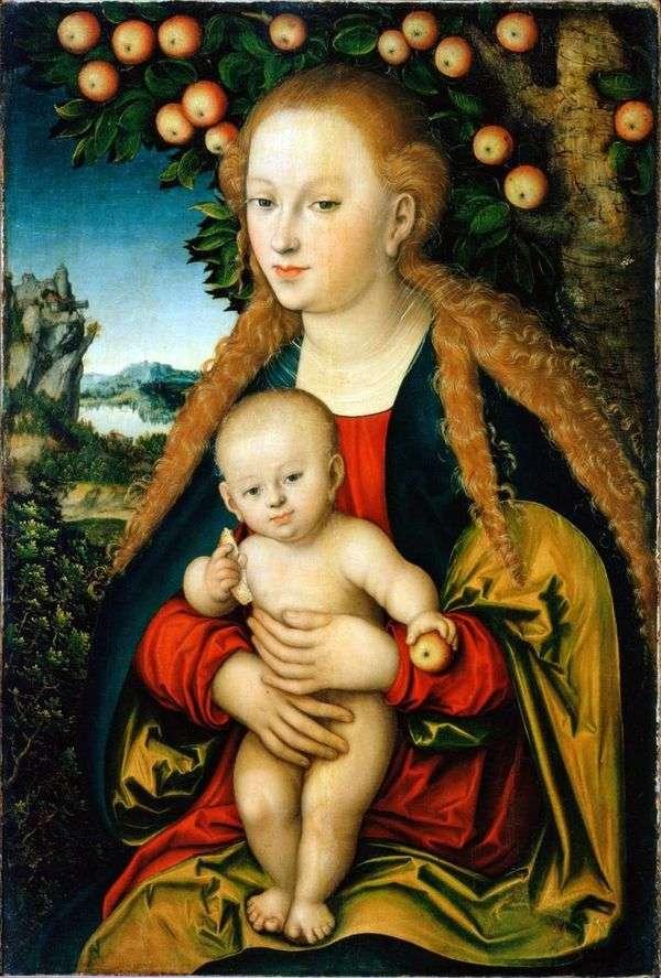 Мадонна с младенцем под яблоней   Лукас Кранах