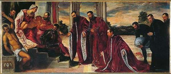 Мадонна с тремя казначеями   Якопо Тинторетто