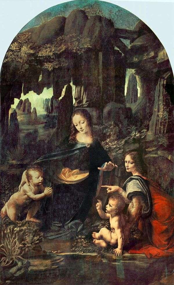 Мадонна в скалах (Мадонна в гроте)   Леонардо Да Винчи