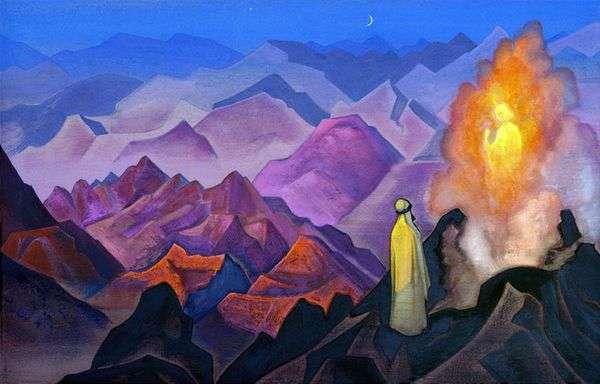 Магомет на горе Хира   Николай Рерих