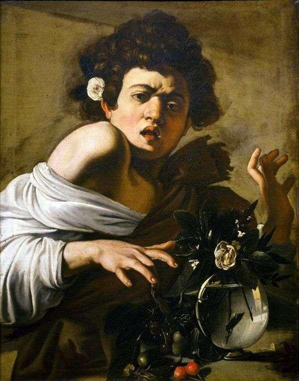 Мальчик, укушенный ящерицей   Микеланджело Меризи да Караваджо
