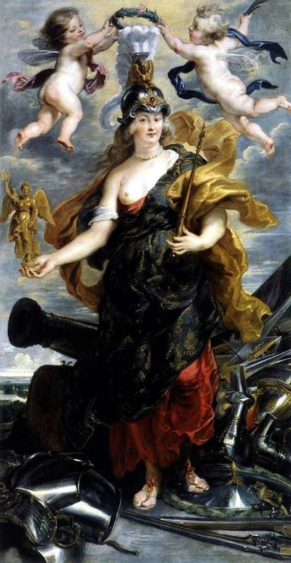 Мария Медичи в образе Беллоны   Питер Рубенс