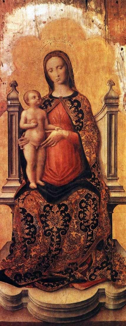 Мария с младенцем на троне   Антонио Виварини