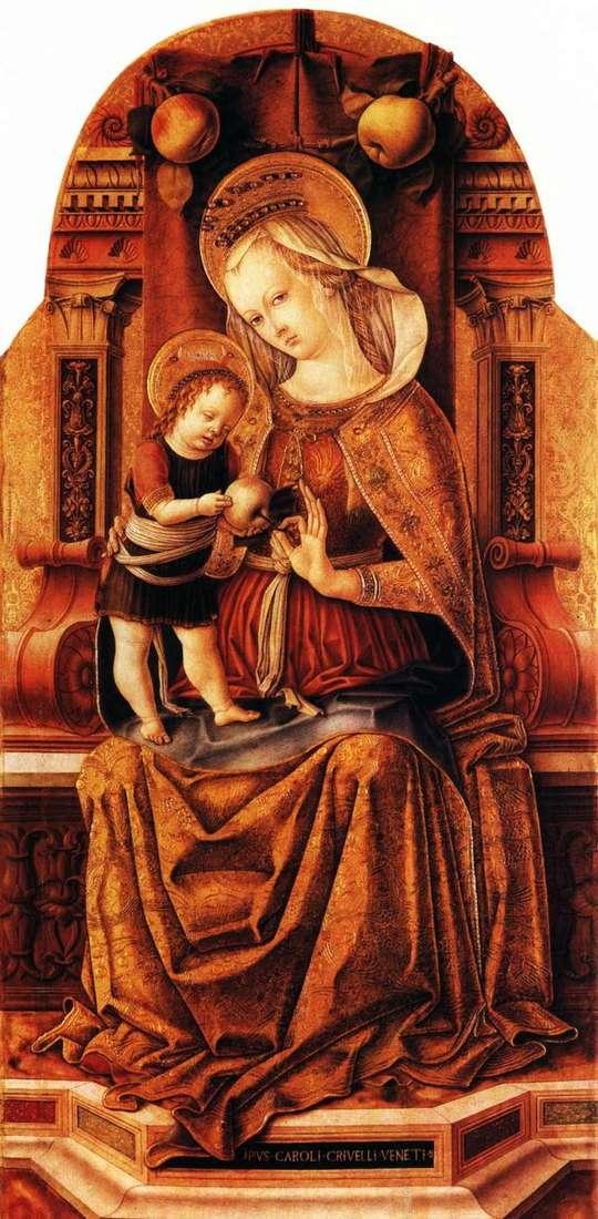 Мария с младенцем на троне   Карло Кривелли