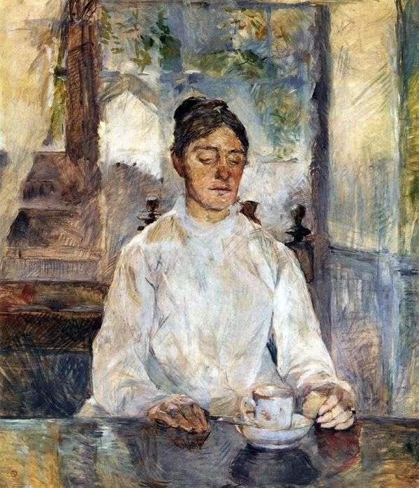Мать художника, графиня Адель де Тулуз Лотрек за завтраком   Анри де Тулуз Лотрек
