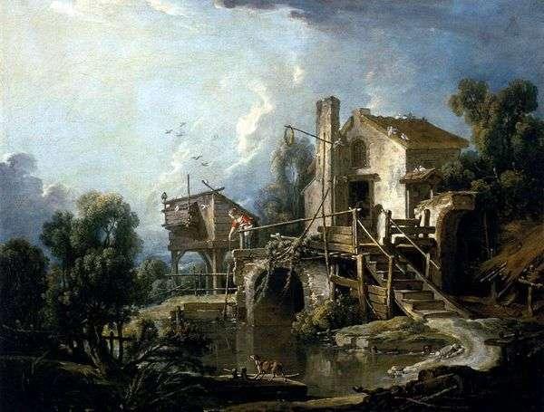 Мельница в Шаратоне   Франсуа Буше
