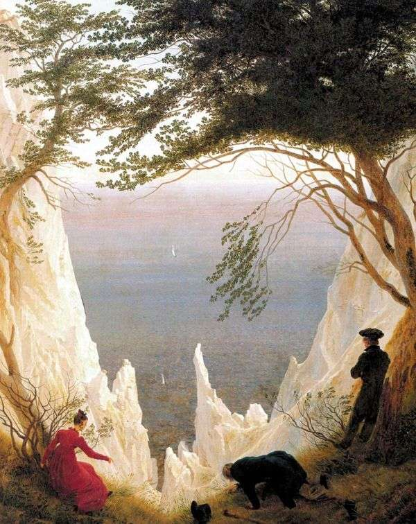 Меловые скалы на острове Рюген   Каспар Давид Фридрих