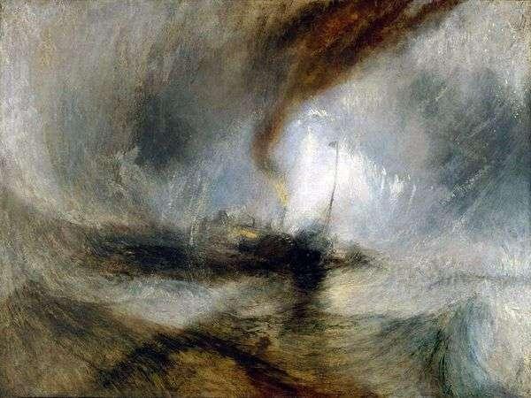 Метель. Пароход выходит из гавани и подает сигнал бедствия, попав в мелководье   Уильям Тернер