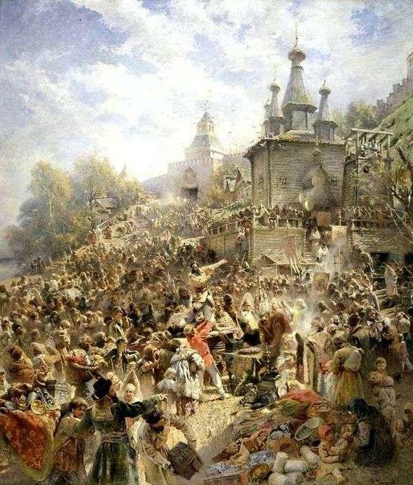 Минин на площади Нижнего Новгорода   Константин Маковский