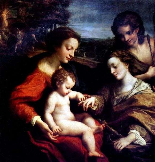 Мистическое обручение святой Екатерины   Корреджо (Антонио Аллегри)