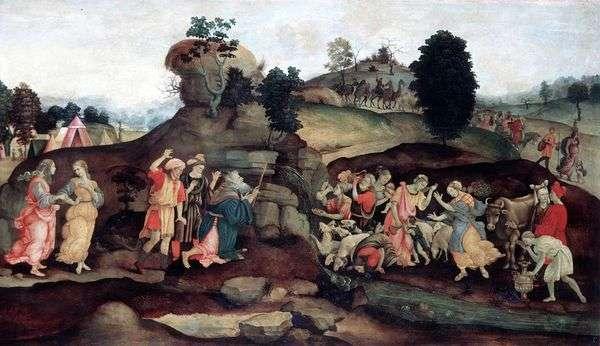 Моисей, добывающий воду из скалы   Филиппино Липпи