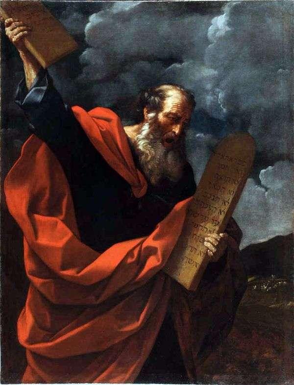 Моисей со скрижалями Закона   Гвидо Рени