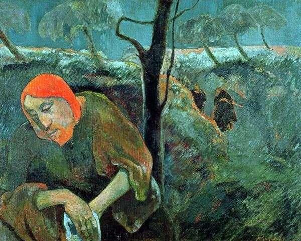 Моление о чаше (Христос в Гефсиманском саду)   Поль Гоген