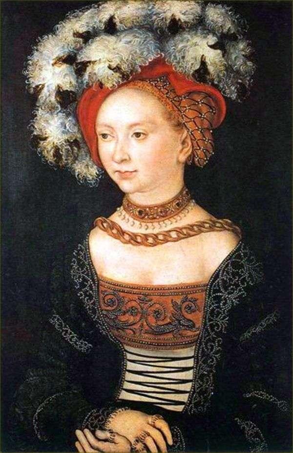 Молодая женщина   Лукас Кранах
