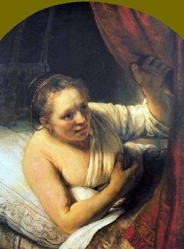 Молодая женщина в постели   Рембрандт Харменс Ван Рейн