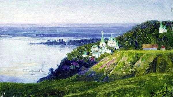 Монастырь над рекой   Василий Поленов