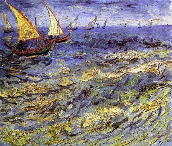 Море в Сент Марье   Винсент Ван Гог