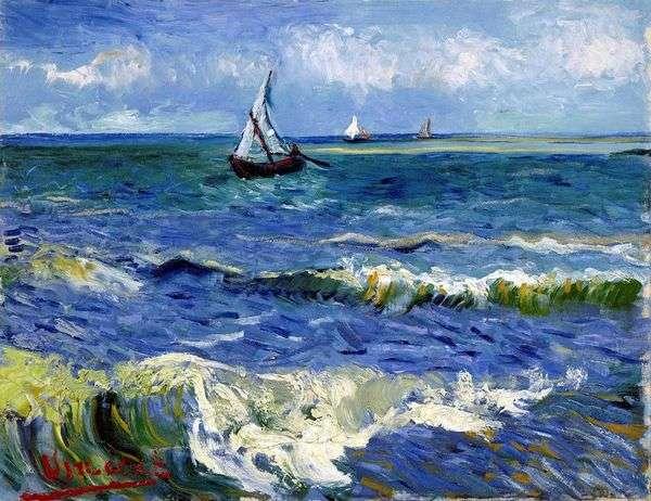 Морской пейзаж в Сен Мари   Винсент Ван Гог