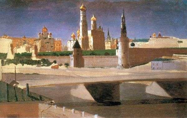 Москва. Вид на Кремль со стороны Замоскворечья   Архип Куинджи