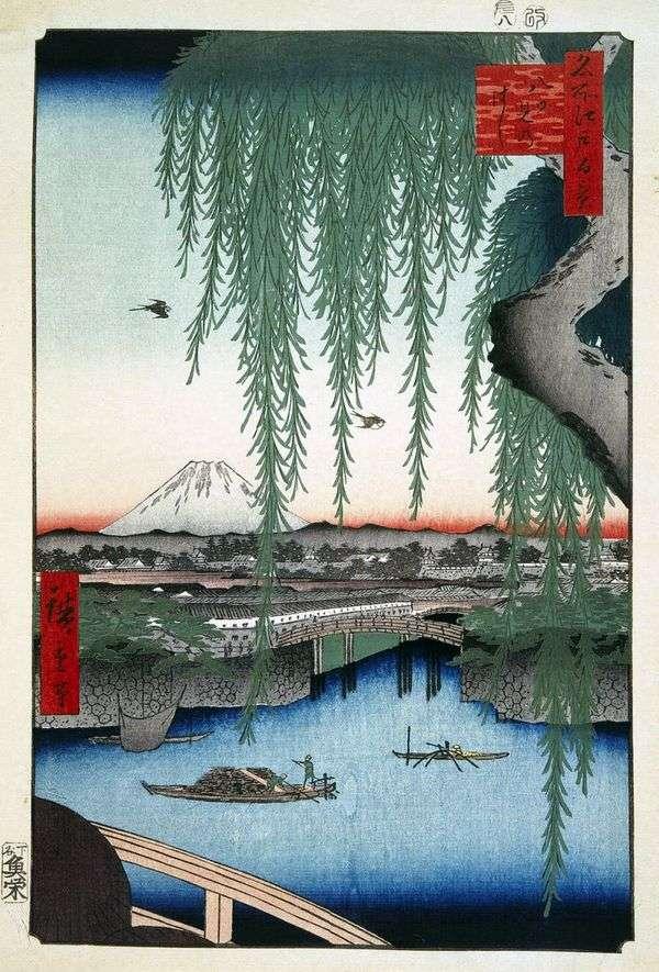 Мост Яиуми   Утагава Хиросигэ