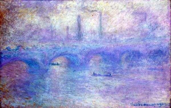 Мост Ватерлоо. Эффект тумана   Клод Моне