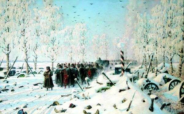 На большой дороге   отступление, бегство...   Василий Верещагин