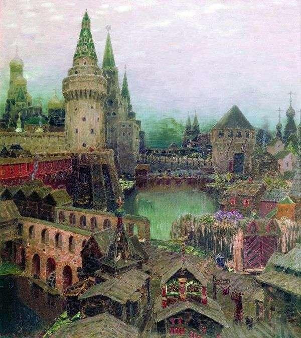 На рассвете у Воскресенского моста. Конец XVII века   Аполлинарий Васнецов