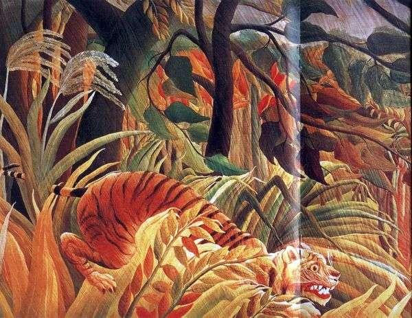 Нападение в джунглях   Анри Руссо