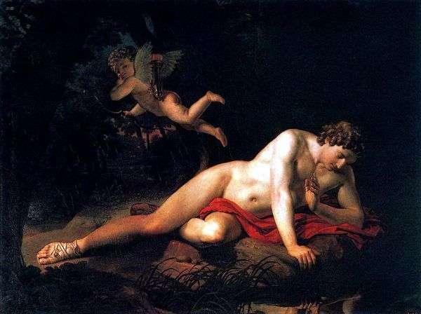 Нарцисс, смотрящий в воду   Карл Брюллов