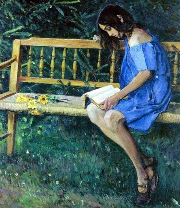 Наташа на садовой скамейке   Михаил Нестеров