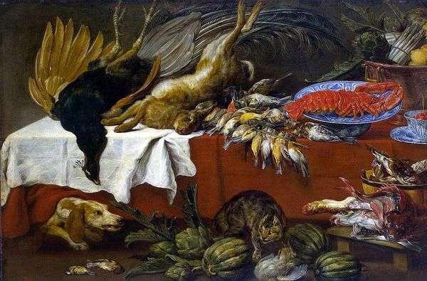 Натюрморт с битой дичью и омаром   Франс Снейдерс