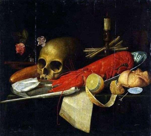 Натюрморт с черепом (Ванитас)   Неизвестно