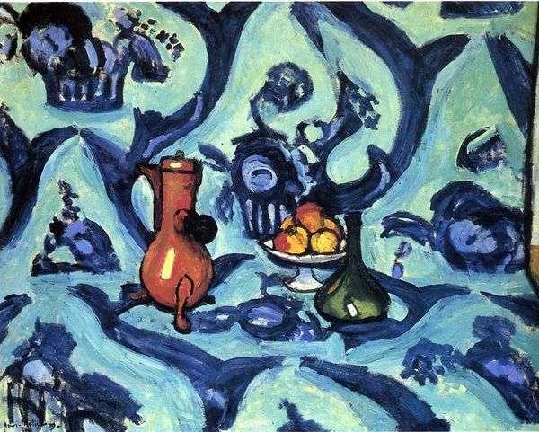 Натюрморт с голубой скатертью   Анри Матисс