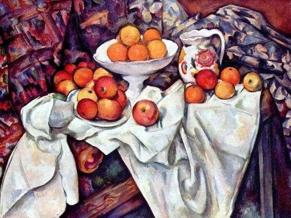 Натюрморт с яблоками и апельсинами   Поль Сезанн