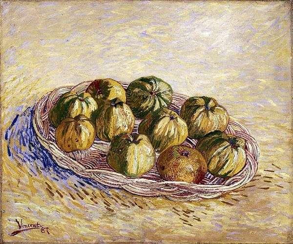 Натюрморт с корзиной яблок   Винсент Ван Гог