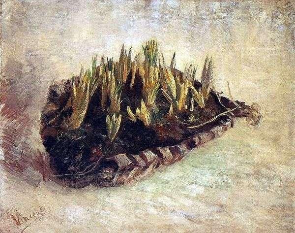 Натюрморт с корзиной крокусов   Винсент Ван Гог